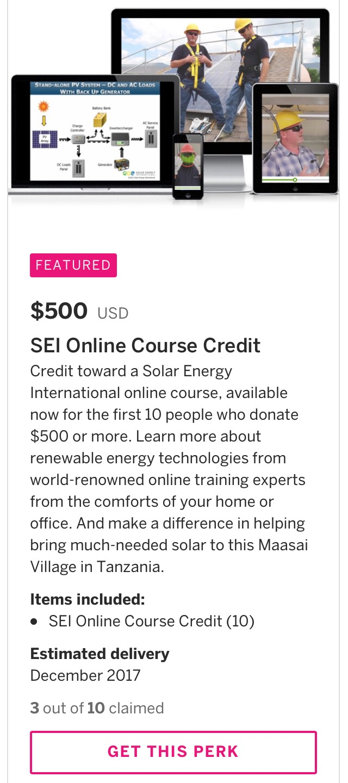 SEI Online Course Credit