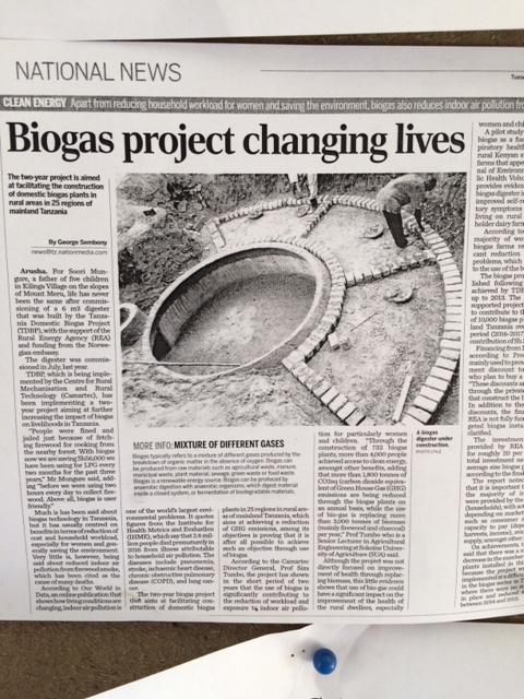 CAMARATEC's premier program features their biogas work.
