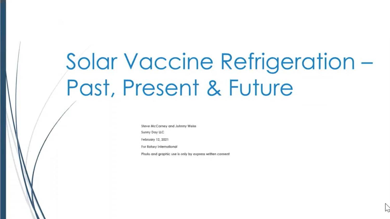 Solar Refrigeration for Vaccines