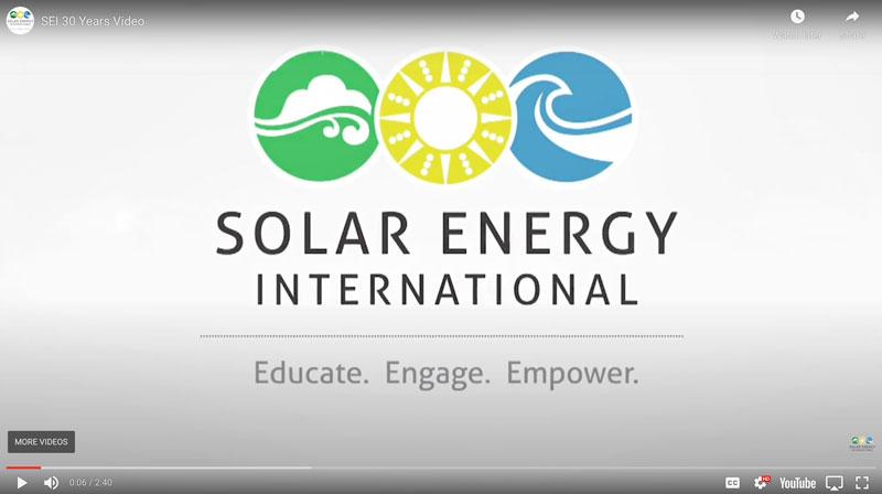 Reflections on Solar Energy International